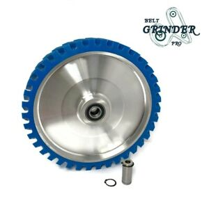 14 Belt Grinder Contact Wheel Serrate Rubber With 2 Heavy Duty Bearings 6205 Rs