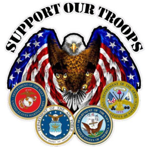 Support Our Troops Stickerdecal