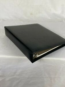 Classic Black Simulated Leather Day Planner 7 Ring Binder By Day timer 12x10 5