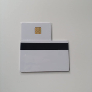 50pcs Magnetic Stripe Card Inkjet Contact Ic Card With 4428 Chip Blank Inkjet