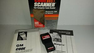Sunpro By Actron Vehicle Code Scanner Cp9001 Gm Amp Saturn 1982 1993 E6