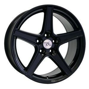 18 Gloss Black Mustang Saleen Style Staggered Wheels 18x9 18x10 5x1143 94 04