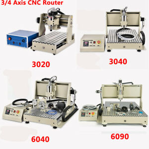 3 4 Axis Usb parallel 3040 Cnc Router Mill Drill Engraving Machine Vfd 400w 800w
