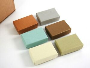 40 Small Cotton Filled Jewelry Gift Boxes Embossed Fiber Box Charms Earrings New