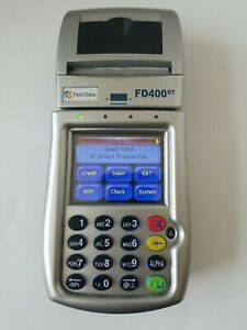 First Data Fd400gt Rechargeable Wireless Credit Card Machine Terminal only