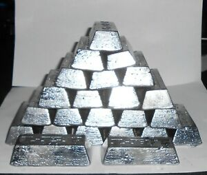 15 16lbs LEAD INGOTS $2.00 PER LB MELTED FROM BOAT KEELS amp; PIPE LEAD $30.00