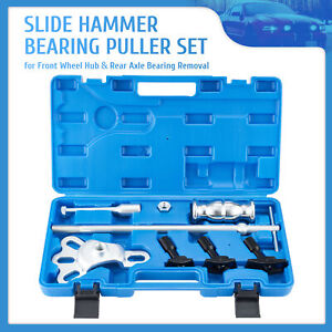 8pc Slide Hammer Rear Axle Remover Set Seal Removal Bearing Puller Tool Kit Omt