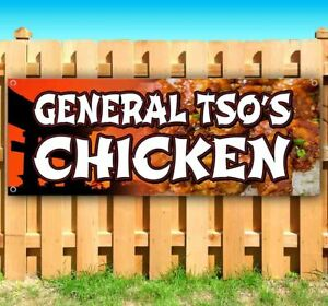 General Tsos Chicken Advertising Vinyl Banner Flag Sign Many Sizes Chinese Food
