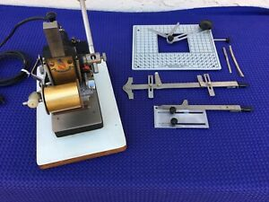 Working Howard Hot Stamp Machine Foil Imprinter With Accessories No Type Holder
