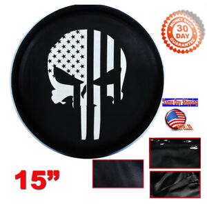 15 Diy Punisher Trailer Spare Tire Tyre Wheel Cover Heavy Duty Vinyl Material
