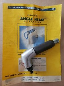 Vintage Sears Craftsman 9 1850 90 Angle Head For Drills Tool Attachment