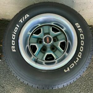 Oldsmobile 15 X 7 Rally Rim Wheel And Tire Off 1977 Rare Find