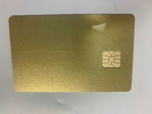 10 Blank Smart Card With Sle4428 Chip Magnetic Strip Hico 3 Track Golden