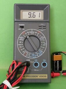 B k Precision 2905 Multimeter With 55 Silicone Test Leads
