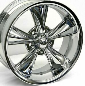 17 Chrome Md Classic Wheels Staggered 17x7 6mm 17x8 0mm 5x114 3 Mustang 65 73