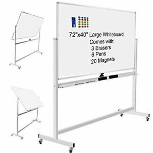 Magnetic Dry Erase White Boards On Wheels Double sided Large