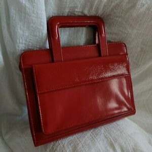 Red Faux Leather Planner Note Pad Case Holder W Handles 365 By Franklin Covey