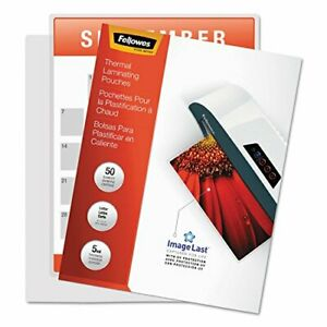 Fellowes Laminating Pouches With Uv Protection 5mil 11 1 2 X 9 100 pack