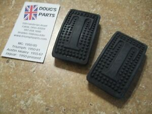 Triumph Tr3 Tr4 Tr250 Tr6 Gt6 Spitfire Tvr Clutch And Brake Pedal Pads New