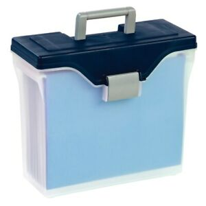 Office Depot Brand Mobile File Box Small Letter Size Clear blue Mobile