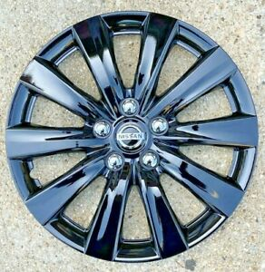 Set Of 4x 16 Inch Black Hubcaps Will Fit 2016 Nissan Altima
