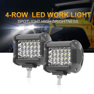 2pcs 240w Pods Led Work Light Spot Lights For Truck Off Road Tractor Square