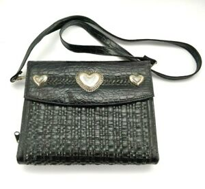 Day Timer Vintage Black Purse Heart Daily Planner Crossbody Purse 1994