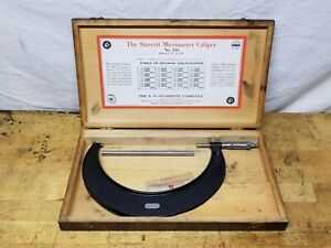 Starrett 7 8 Outside Diameter Micrometer No 436 With Box Excellent