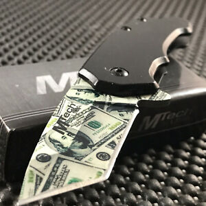 MTECH MINI SPRING ASSISTED TACTICAL TANTO DOLLAR FOLDING POCKET KNIFE OPEN $12.95