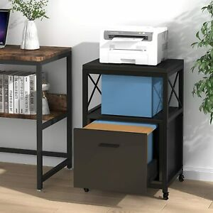 Tribesigns File Cabinet Filing Cabinet For Letter A4 Size Printer Stand Drawer