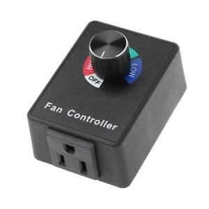 Ac 120v 3a Fan Variable Speed Controller Electric Motor Rheostat For Hydroponics