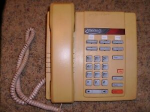 Northern Telecom Ameritech M8009 Business Telephone With Mounting Base