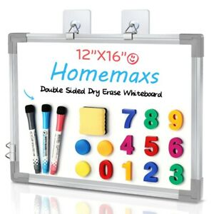 Homemaxs Dry Erase White Board Double Sided Magnetic Memo Reminder Home Office