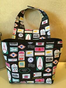 Auto Litter Trash Bag For Car Over The Head Rest Travel Accessory Handmade
