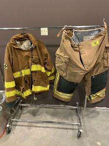 Firefighter Turnout Gear Jacket 56 Pants 52x28 Great For Halloween