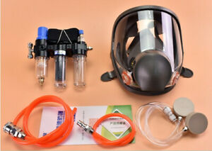 3 In1 Painting Safety Supplied Air Fed Respirator Kit System 6800 Face Gas Mask