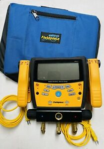 Fieldpiece Sman360 3 port Digital Manifold Micron Gauge Barely Used With Bag