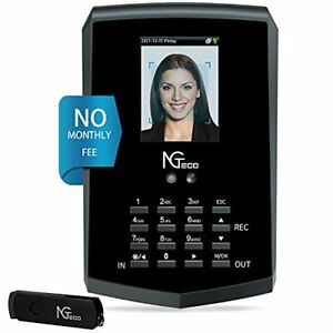Time Clock Ngteco Face Recognition Time Card Machine Touch Free Facial Time C
