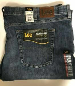 LEE Men#x27;s Big amp; Tall Size 50 x 32 Straight Leg Relaxed Jeans NEW MSRP $70.00 $40.00