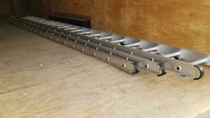Werner 560 3 60 Ft 250 Lb Rated 3 Piece Aluminum Extension Ladder Twist proof