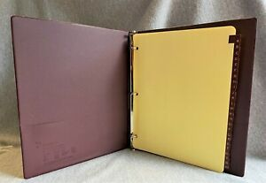 Maroon Cardinal 3 ring Binder With A z Tab Dividers 8 X 11 Paper Sheet Size