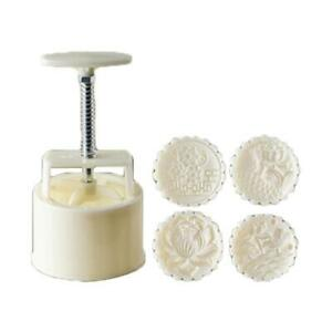 Hand Pressure Moon Cake Mold Cake Moon Stamp Pastry Tool Thickness Adjustable $13.59