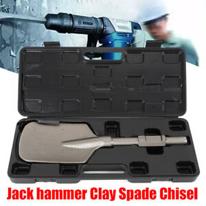 1 1 8 Clay Spade Scoop Shovel Head Attachment Square Spade Bit For Jack Hammer