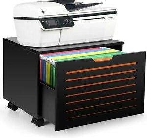 Mobile File Cabinet Printer Stand Office Filing Document Organizer With Wheels