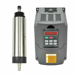 And Air coole 80mm 1 5kw Motor Vfd Inverter Matching Spindle Er16 For Cnc