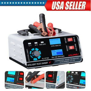 400w 12v Heavy Duty Car Battery Charger Smart Pulse Automatic Repair For Carvan