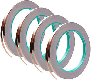 4 Pack Copper Foil Tape double sided Conductive With Adhesive For Emi Shielding