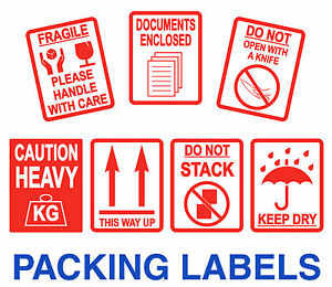 Fragile Stickers Large 80 X 103mm This Way Up Heavy Packing Labels