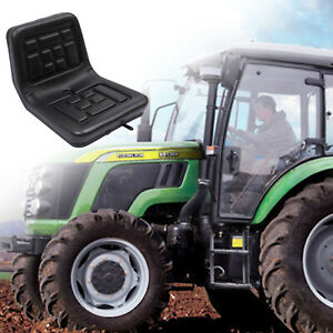 Slidable Tractor Seat Horizontally Adjustable Water resistant Thick Pu Leather