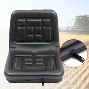 Universal Tractor Seat Pu Leather Seat With Backrest For Forklift Digger Mower
